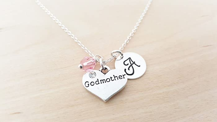 Amazon godmother necklace personalized initial sterling godmother necklace personalized initial sterling silver custom jewelry gift for her aloadofball Gallery