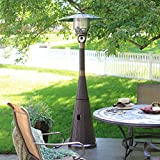 Patio Propane Heater Hiland Collection with Mocha Brown Wicker...