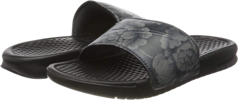 Nike Damen WMNS Benassi JDI Print Dusch- & Badeschuhe, beige Schwarz Black Black 025