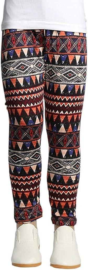Toraway Girls leggingsToddler Baby Kid Girls Boys Cartoon Floral Print Pants Trousers Legging Clothes 18Months-7Years