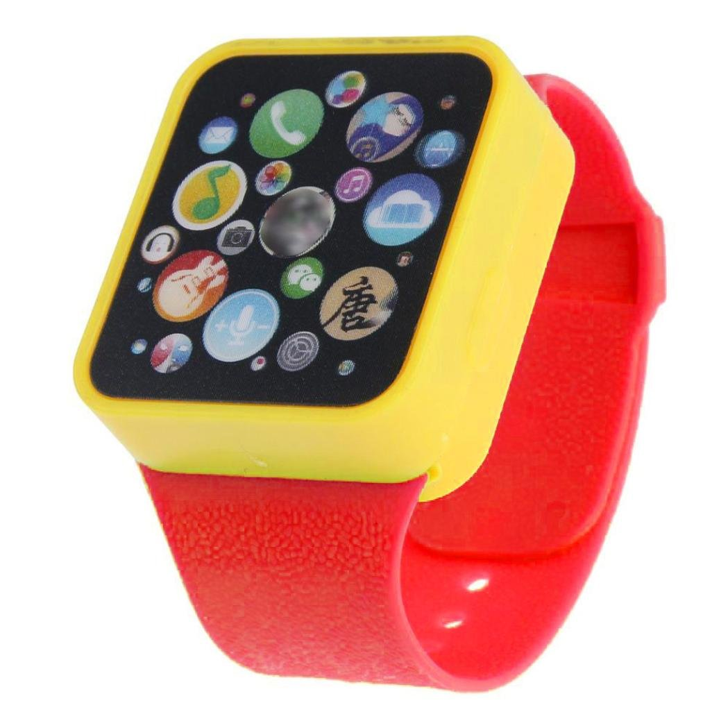 Alonea Child Kids Toy Educational Smart Wrist Watch Learning Touching Screen Games (Red)