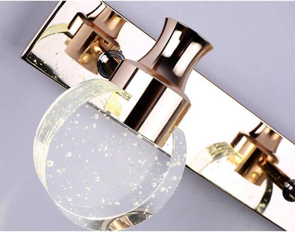 Spiegelleuchten Spiegel-vordere Lichter, Badezimmer-modernes einfaches geführtes Kristall wasserdichtes Anti-fog Badezimmer bilden Kabinett-Spiegel-Lichter Badbeleuchtung (Farbe : Weißes Licht-12cm) Weißes Licht-12cm