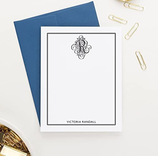 monogram stationary set personalized stationery set personalized monogram stationery set monogrammed stationary set - Personalized Stationery Cards