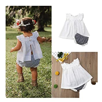 Liqiqi - Vestido de bebé niña de Verano Fresco Falda Corta - Niña ...