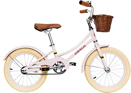 Amazon Com Aceger Girls Bike With Basket For Kids 14 Inch With Training Wheels 16 Inch With Training Wheels And Kickstand 20 Inch With Kickstand Sports Outdoors