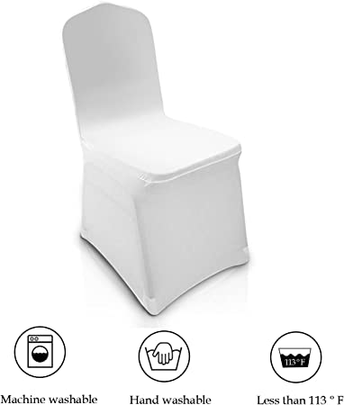 300x White Chair Covers Spandex Lycra Chair Cover Banquet Wedding Party Decor
