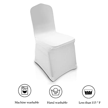 Super Modrine 100Pcs White Chair Covers Spandex Lycra Metal Plastic Folding Decoration For Wedding Banquet Party White Chair Cover Gmtry Best Dining Table And Chair Ideas Images Gmtryco
