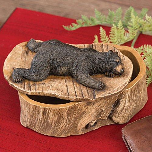Bear Box Trinket - Black Bear Trinket Box