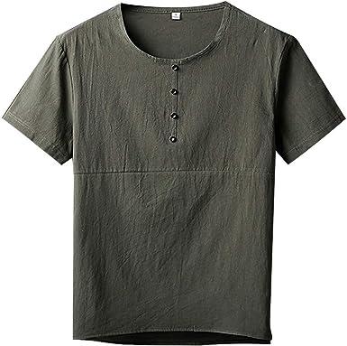 OPAKY Camiseta Básica de Manga Corta de Calidad Diseño Original Hombre Caballero Camiseta de Manga Corta de Algodón de Manga Larga de Algodón para Hombres: Amazon.es: Ropa y accesorios
