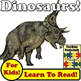 "Dinosaur Children's Book: ""Dark Dinosaurs! Learn About Dinosaurs While Learning To Read - Dinosaur Photos And Facts Make It Easy!"" (Over 45+ Photos of Dinosaurs)"