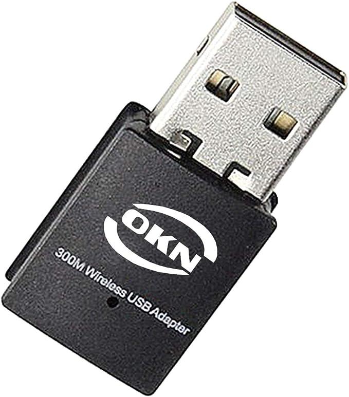 Pomya USB WiFi Dongle External WiFi Receiver with Antenna for PC Desktop Laptop 300Mbps Wireless WiFi Adapter Network Card USB2.0