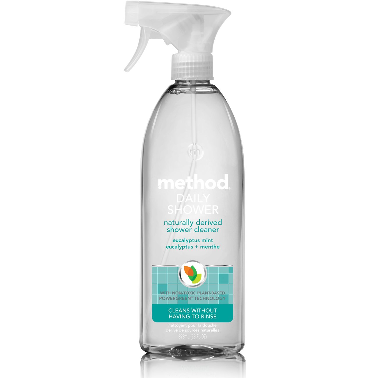Amazon.com: Method Naturally Derived Daily Shower Cleaner Spray, Eucalyptus  Mint, Ounce: Prime Pantry