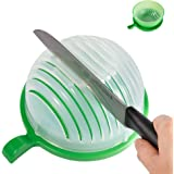 Salad Cutter Bowl Maker Fruit Vegetable Bowl Cutter-Fast Fresh Salad Slicer Salad Chopper- Extra Big Bowl Super For Washing Containing (Green) By GAMING TS