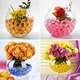 Toyk Water Beads Rainbow Mix (100000 beads) Orbeez Spa Refill Sensory Kids Toys Non-Toxic Growing Balls Orbies Ice Jelly Water Gel Bead Splendid Colors for Pool Vases Plant Wedding and Home Decoration