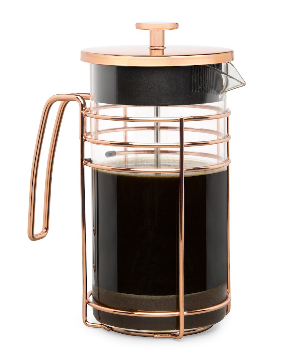 Cantankerous Chef Rose Gold French Press - Large 8 Cup Coffee Press - Best Coffee Maker - Elegant Original Finishing - Sturdy Small Mesh Filter Borosilicate Glass With 3-part Stainless Steel Plunger