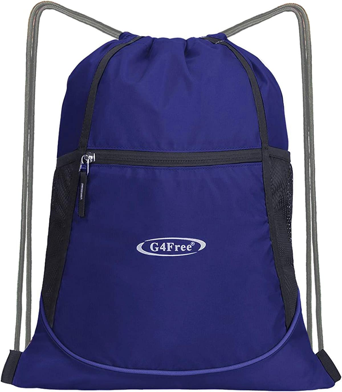 G4Free Drawstring Backpack 15L 20L String Backpack Drawstring Gym Bag Cinch Sack Pockets