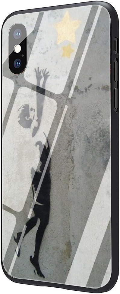 Amazon.com: Street Art Banksy Graffiti Tempered Glass Phone Case ...