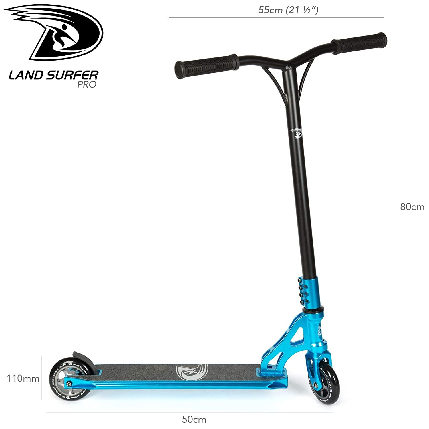 Amazon.com: Land-Surfer PRO Stunt Scooter - Blue: Sports ...