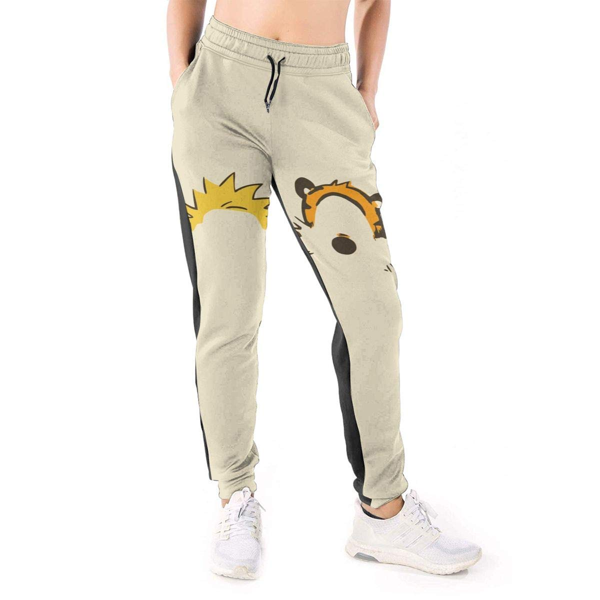 ReactHH Calvin and Hobbes Pantalones de chándal 3D para Mujer, con ...