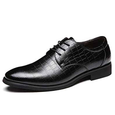LEDLFIE Herren Echtleder Schuhe Business Comfort Lace-up Schuhe Singles