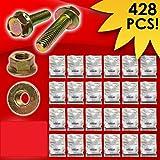 Metric Class 8.8 Hex Cap Flange Frame Bolts & Flange Nuts Assortment Kit - 428 Pieces!