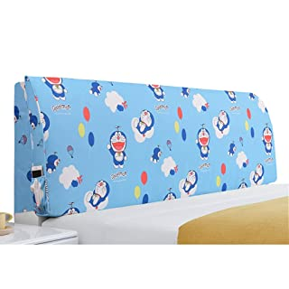 Bedside Cushion Curved Fabric, No Bed Soft Pack Large Backrest, Pillow Bed Cover,5 Colors, 5 Sizes (Size : B 180 * 55cm) shuihua-kaodian