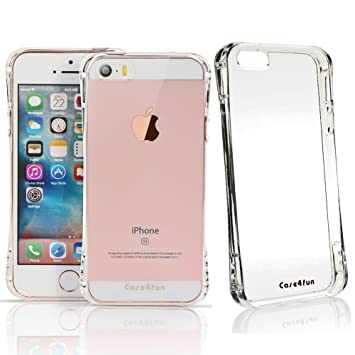 Funda iPhone SE, Case4fun Carcasa iPhone 5SE / 5S / 5 [Ultra Hybrid] Amortiguacion neumatica [Crystal Clear] Parte trasera transparente de ...