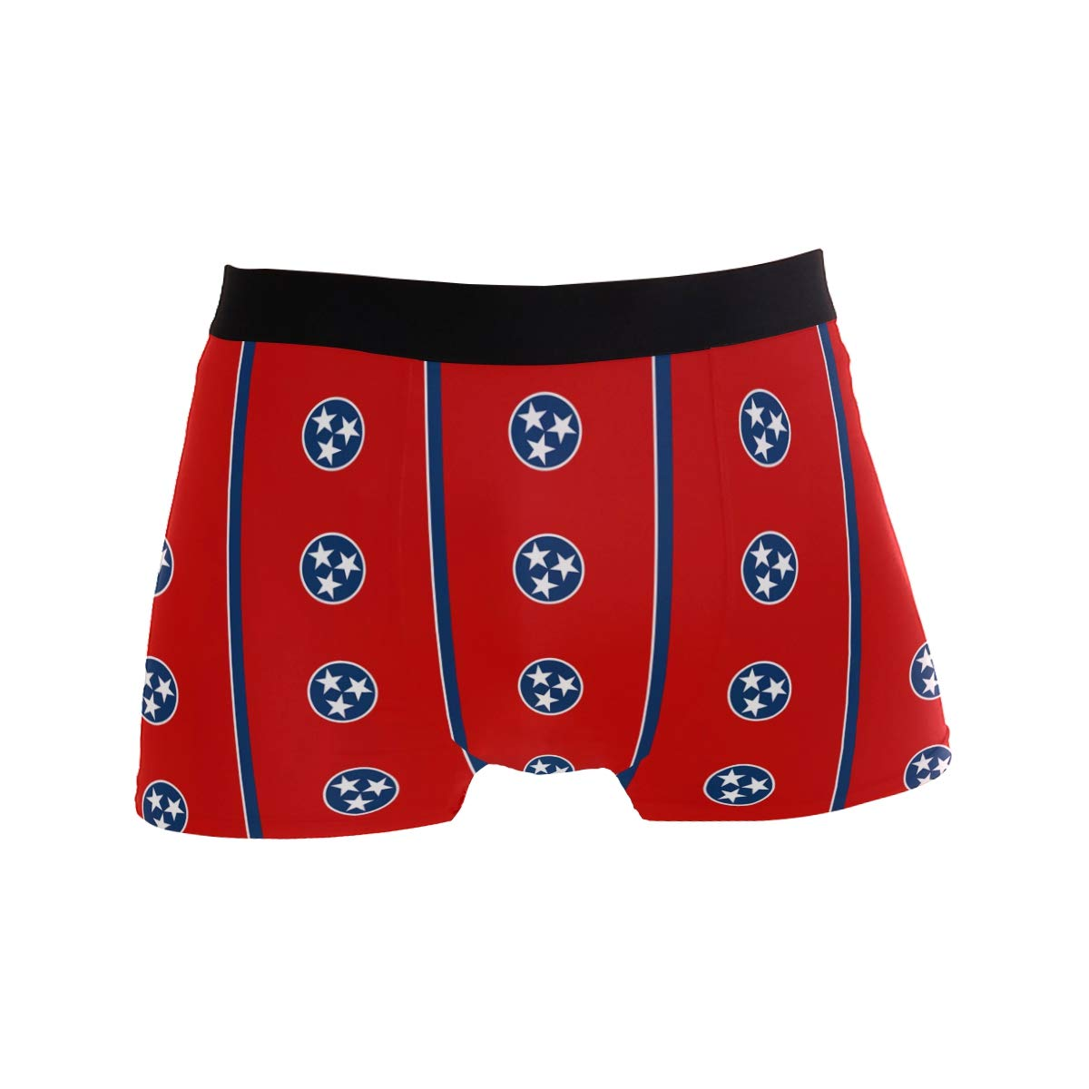 DongDongQiang Tennessee Flag Pattern Mens Boxer Briefs Underwear