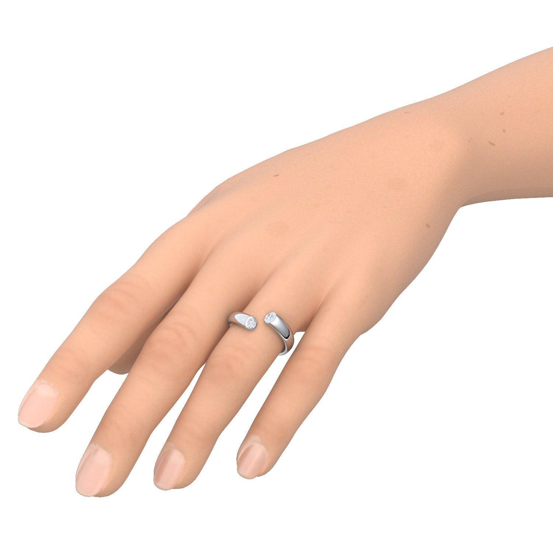 Ring Silber Von Amoonic Mit Zirkonia Silberring 925 Gratis