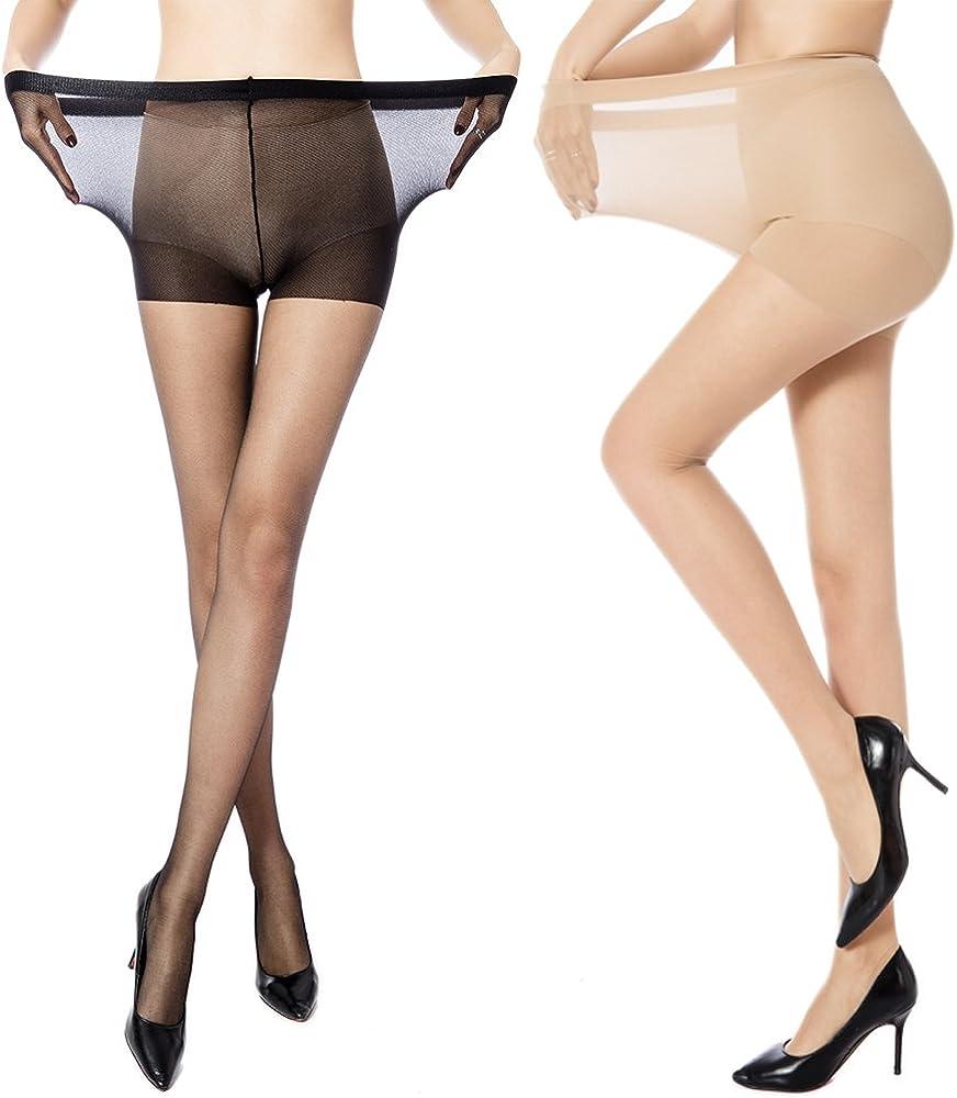 erstaunliche Qualität stylistisches Aussehen Designermode MANZI Damen Strumpfhose 2 or 4 Paar Plus Größen XL-4XL(44-62 ...