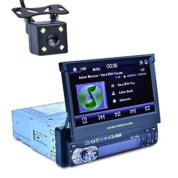 Reakosund de 7 pulgadas de coche GPS jugador universal de un solo coche de dinar auto
