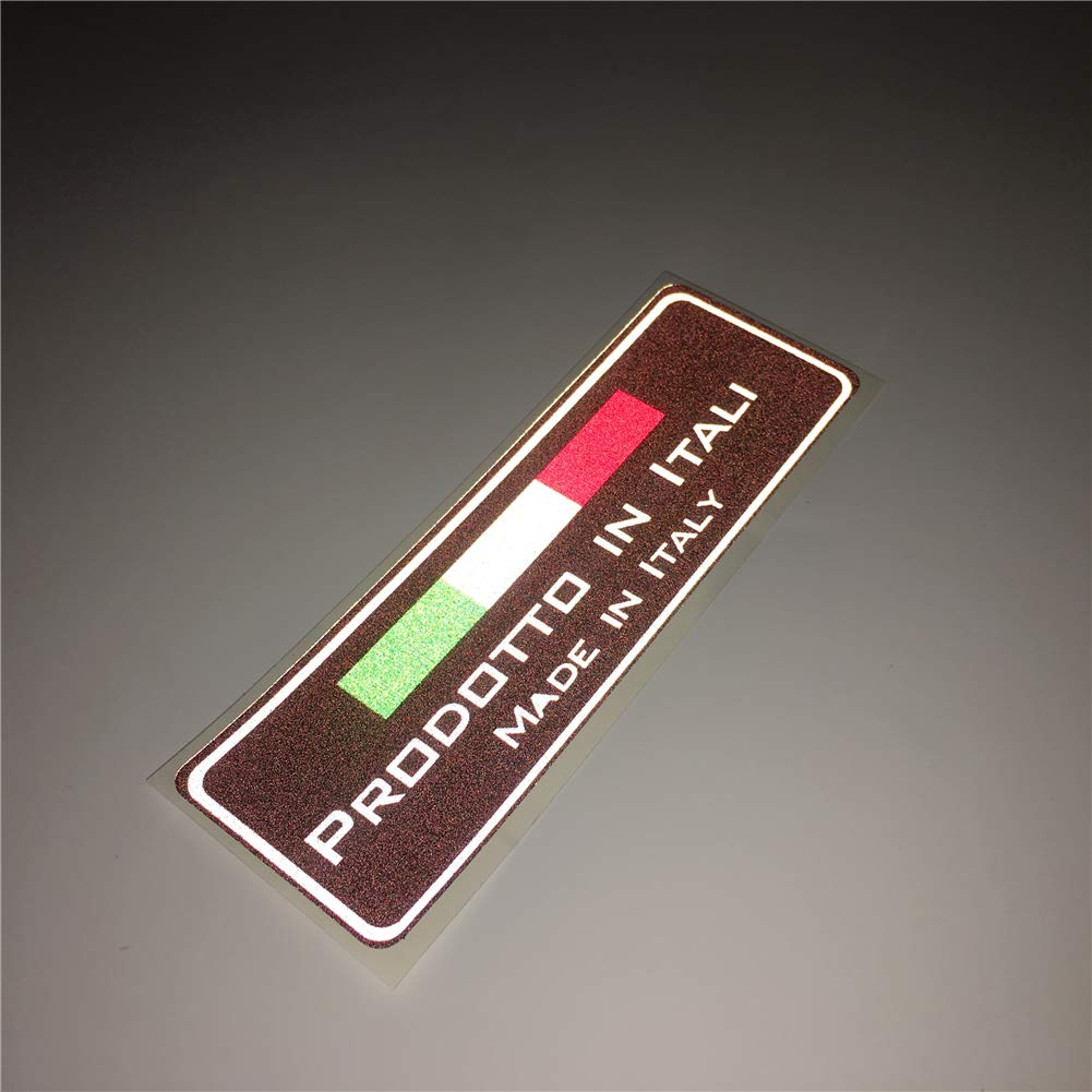 Langersun 1PCS Car Sticker Decals Italy National Flag Made in Italia Motorbike Bumper Tape 15x5cm
