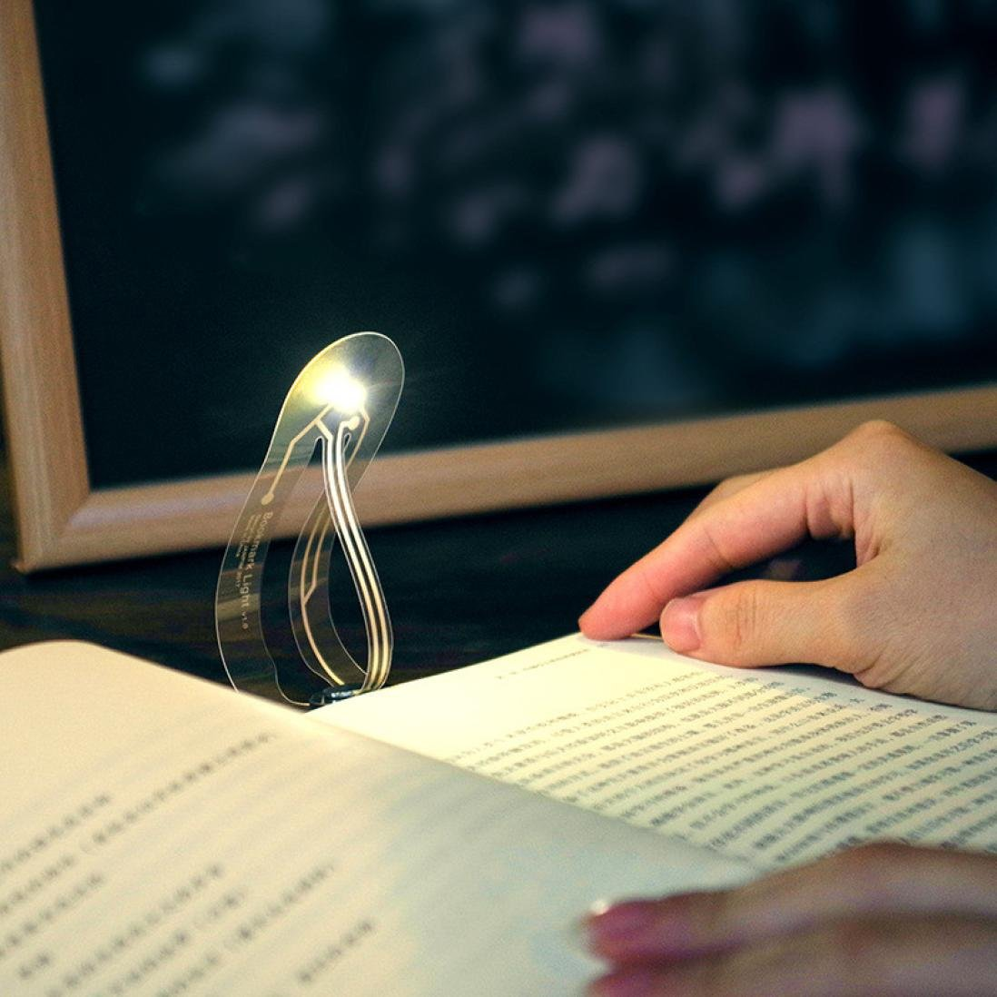 TAOtTAO Creative Mini Portable Bookmark Lights LED Portable Books Eye Reading Light