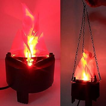 9a932fd0057 Lámpara de fuego de simulación LED falsa llamas artificiales 3D llamas  Campfire Centro de mesa para