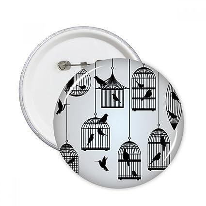 DIYthinker Las aves jaula de ilustración de la silueta pernos ...