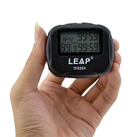 cuzit LCD Digital Pantalla grande alarma temporizador de intervalos TF6204 Trainning Crossfit Running Yoga peso levantamiento Running cronómetro ...
