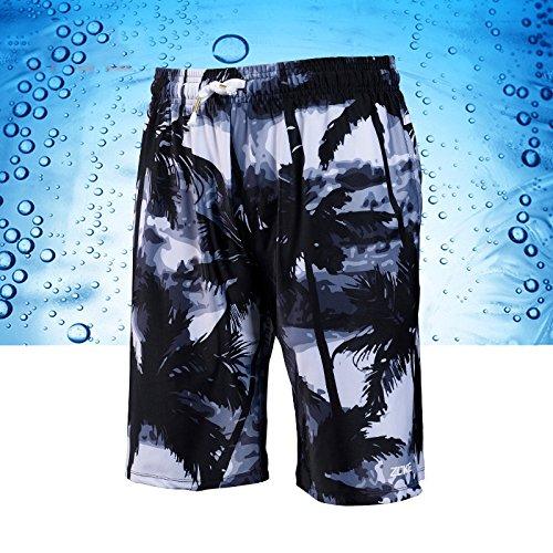 ZQ@QXCinq hommes Taille Boxer confortable loisirs maillot de bain,2XL,ash