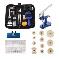 Deluxe - Set di attrezzi per riparazione orologi orologiaio Tools - Orologio, Watchband Link pin Remover, orologio fondello Opener, orologio con fustelle di nylon premere