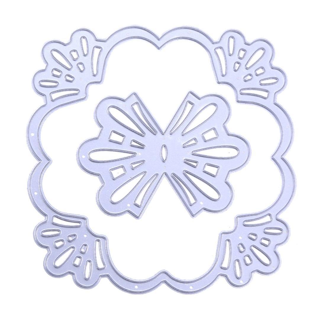 14 Sets Cutting Dies,Pollyhb Love Sweet Flower Metal Stencils DIY Scrapbooking Album Paper Card Craft (E)