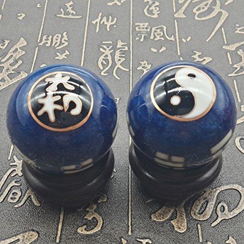 Chinois Traditionnel Ballon De Fitness Décompression Handball Bleu Potins De Tai Chi 50mm450g
