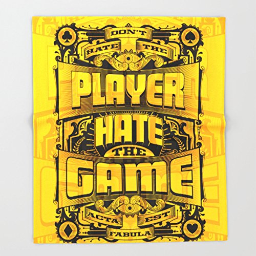 Society6 Dont Hate the Player Hate the Game Throw Blankets 88'' x 104'' Blanket