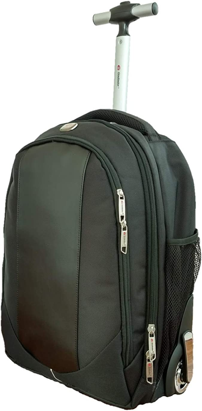 Wheeled Laptop Backpack Gladiador Rolling Carry on Luggage Business Bag With Wheels fit 15.6 Inch Laptop