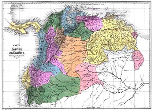 Gifts Delight Laminated 33x24 Poster: Gran Colombia map (La Gran Colombia)