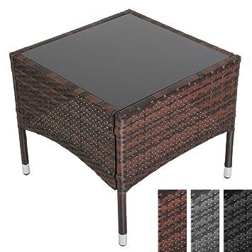 Miadomodo - Table basse de jardin terrasse 50 x 50 x 45 cm - couleur ...
