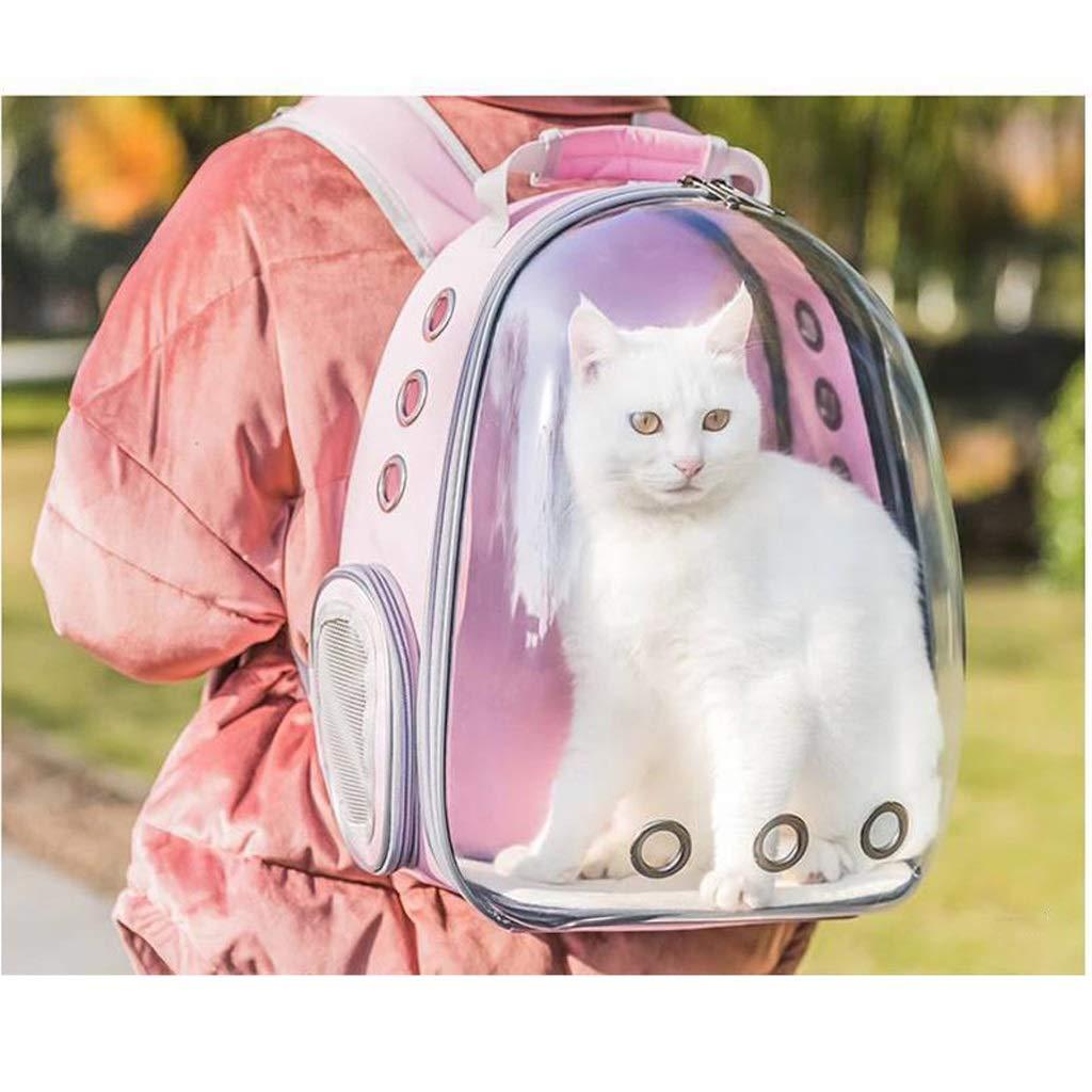 Dongyd Pet carrier,Cat Dog Puppy Travel Carrier Backpack, Space Capsule Bubble Rucksack Shoulder Bag Waterproof Breathable Pet Handbag  Pink