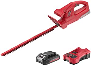 """POWERWORKS 20V 20 Inch Cordless Hedge Trimmer Electric Grass Trimmer, Dual Action Blade & 5/8"""" Cutting Capacity, XB 2Ah Battery and Charger Included ,for Bush Lawn and Garden"""