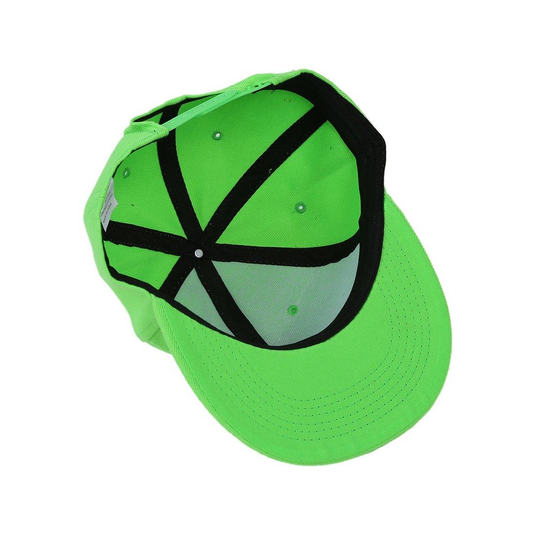 Snapback Pianura Di Hip-Hop Del Berretto Da Baseball Ragazzo Regolabile Cappello frutta verde R TOOGOO Berretto Da Baseball