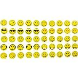 Aimants Smiley Set d'emoji 50pièces, 10motifs assortis Aimants pour réfrigérateur Aimants rigolos Émoticônes Diamètre 2cm