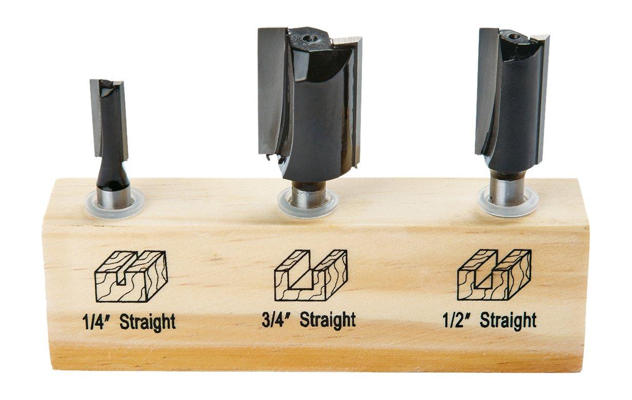 Irwin Tools 1901044 Marples Straight Router Bit Set (3 Piece)