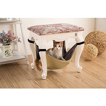 Nopson Cat hamaca debajo de la silla gato hamaca cama de manta hamaca gato cama colgando